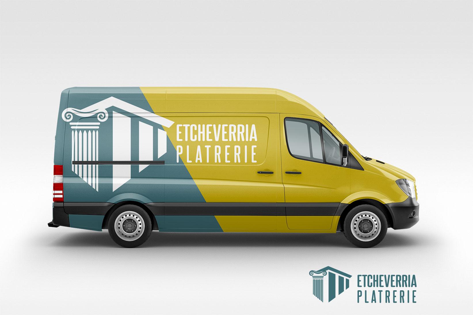 ETCHEVERRIA PLATRERIE-Peyrehorade-skoncommunication-artisanlandes-camion